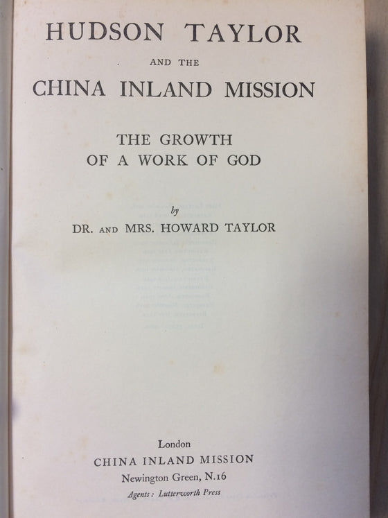Hudson Taylor and the China inland mission - ChezCarpus.com