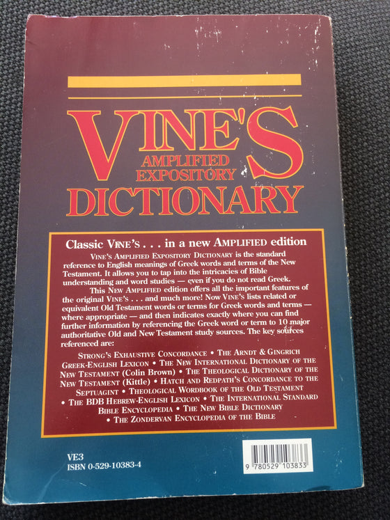 Vine's amplifies expository Dictionary - ChezCarpus.com