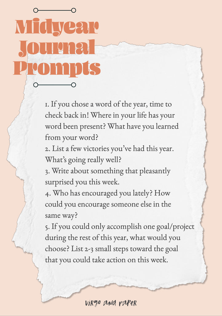 Midyear Journaling Prompts