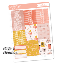 Birthday Weekly Planner Sticker Kit - Hand Drawn Happy Birthday Stickers Exclusive to Virgo and Paper