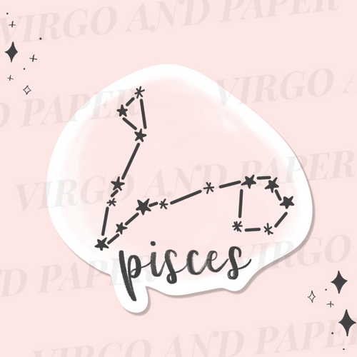 Pisces Astrology Sticker Die Cut