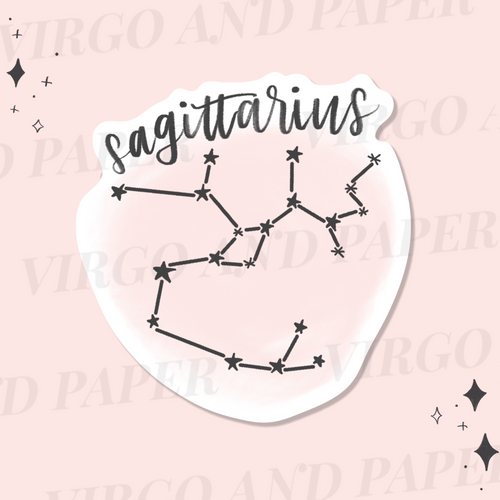 Sagittarius Astrology Sticker Die Cut