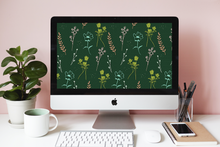 Green Floral Wallpaper Freebie