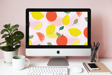 Load image into Gallery viewer, Citrus Fruit Wallpaper Freebie