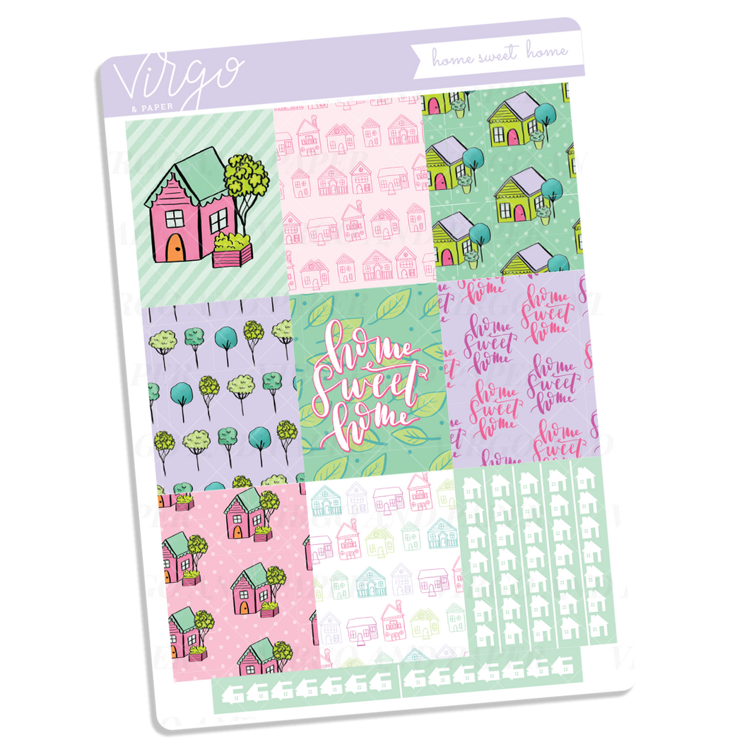 Home Sweet Home Full Boxes Sticker Sheet