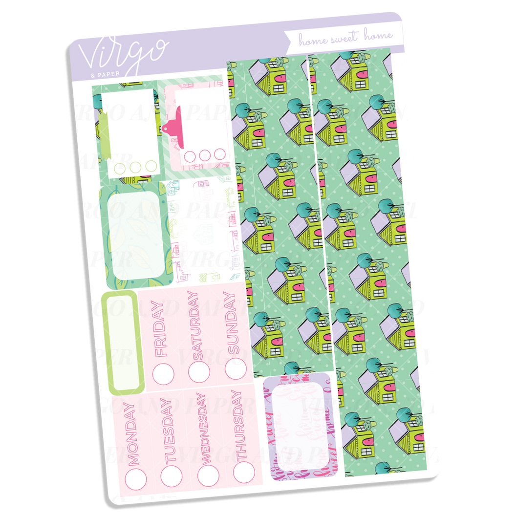 Home Sweet Home Washi + Date Covers Sticker Sheet