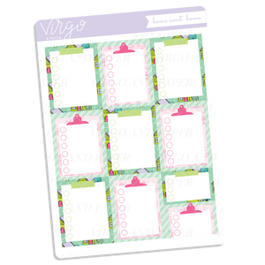 Home Sweet Home Checklists Sticker Sheet