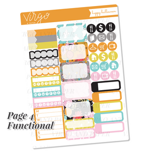 Happy Halloween Weekly Planner Sticker Kit - Hand Drawn Halloween Stickers Exclusive to Virgo and Paper