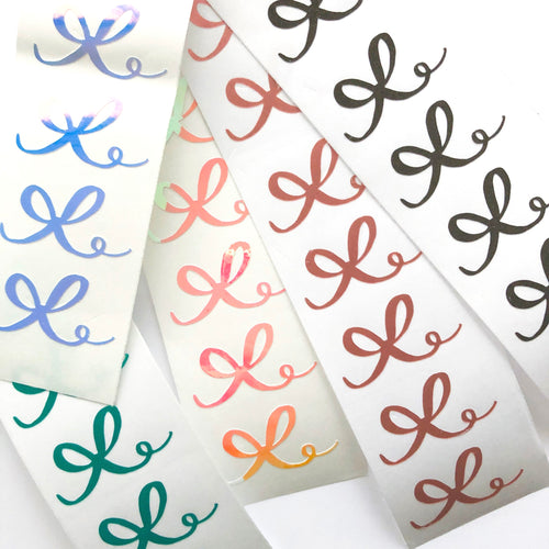 Small Hand Drawn Bow Vinyl Decal Set