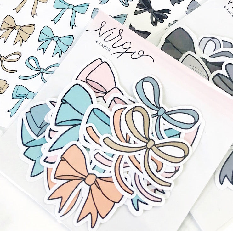 Pastel Bows Sticker Die Cuts