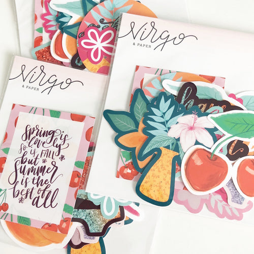 Lovely Summer Sticker Die Cuts