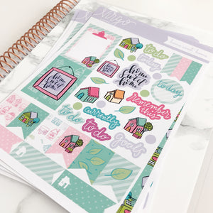 Home Sweet Home Weekly Kit - 6 Page Planner Sticker Kit