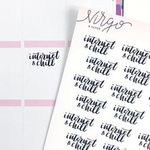 Internet and Chill Hand Lettered Label Planner Stickers
