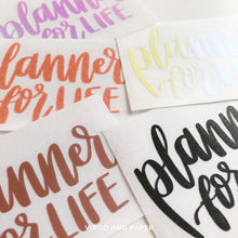 Planner for Life Vinyl Decal