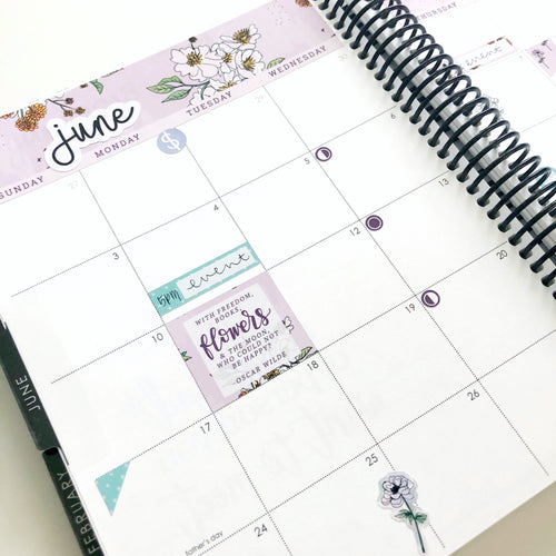 Wildflower Monthly Planner Sticker Kit