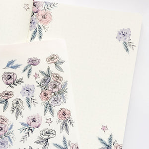 Clear Floral Decorative Stickers