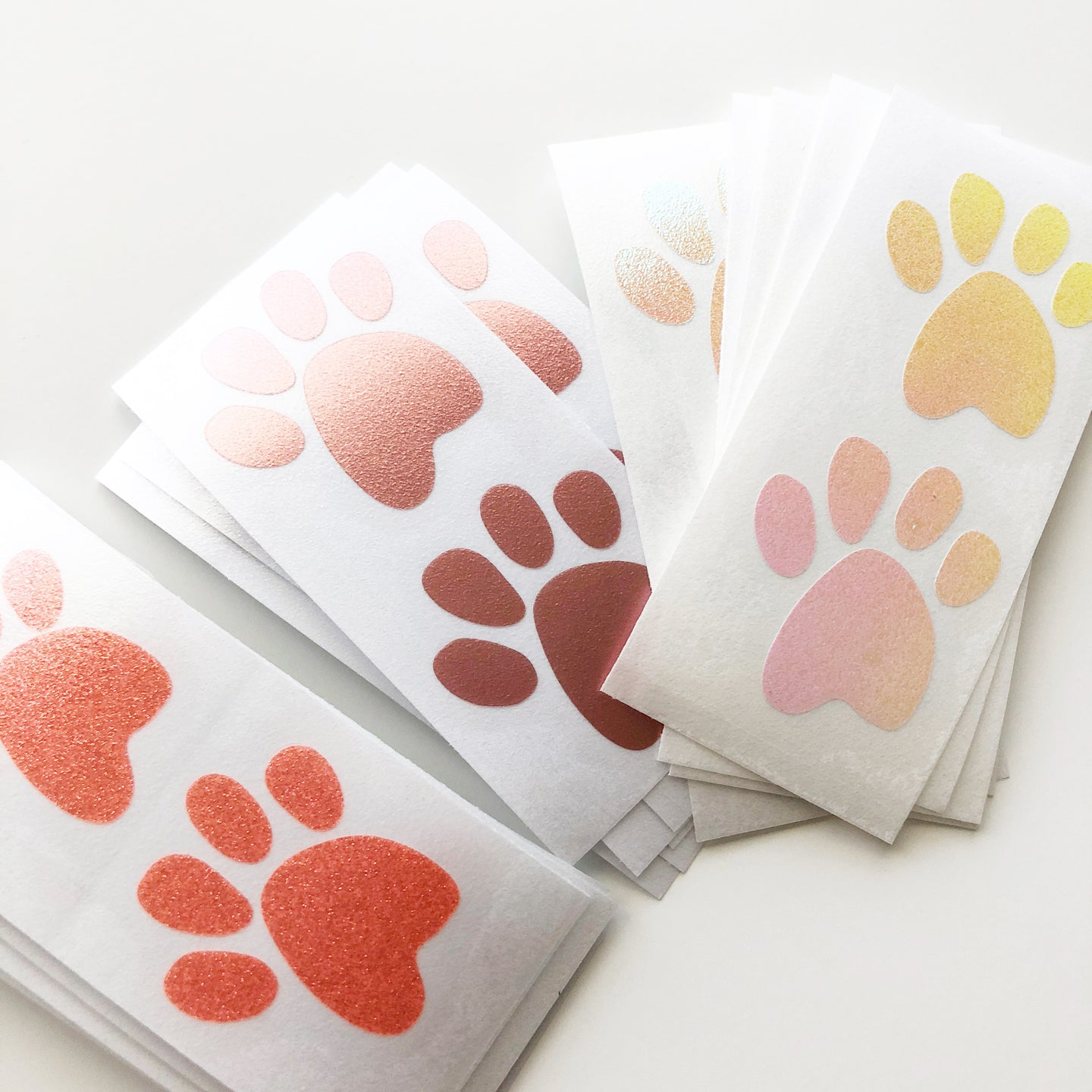 Small Paw Print Vinyl Decal (Set of 2)