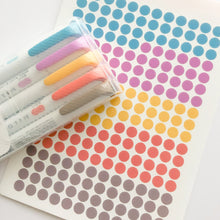 Highlighter Colors Clear Dot Stickers - Yellow Colorway