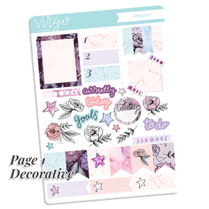Imagine Weekly Hand Drawn Floral Planner Sticker Kit