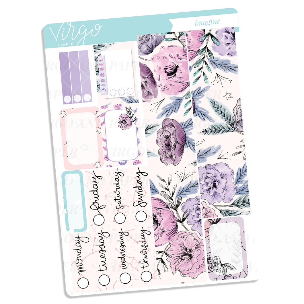 Imagine Washi + Date Covers Sticker Sheet