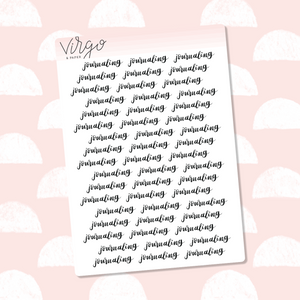 Journaling Hand Lettered Label Planner Stickers