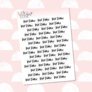 Me Time Hand Lettered Label Planner Stickers