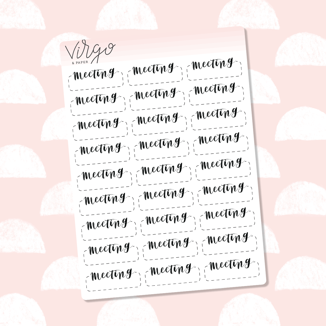 Meeting Hand Lettered Label Planner Stickers