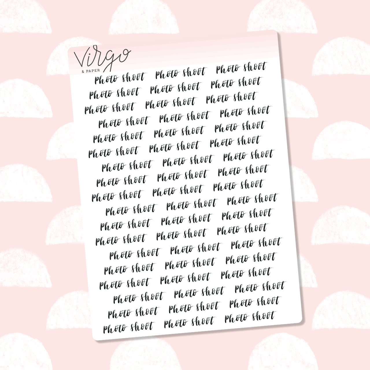 Photoshoot Hand Lettered Label Planner Stickers