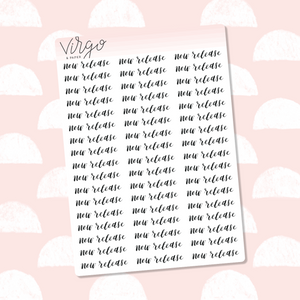 New Release Hand Lettered Label Planner Stickers