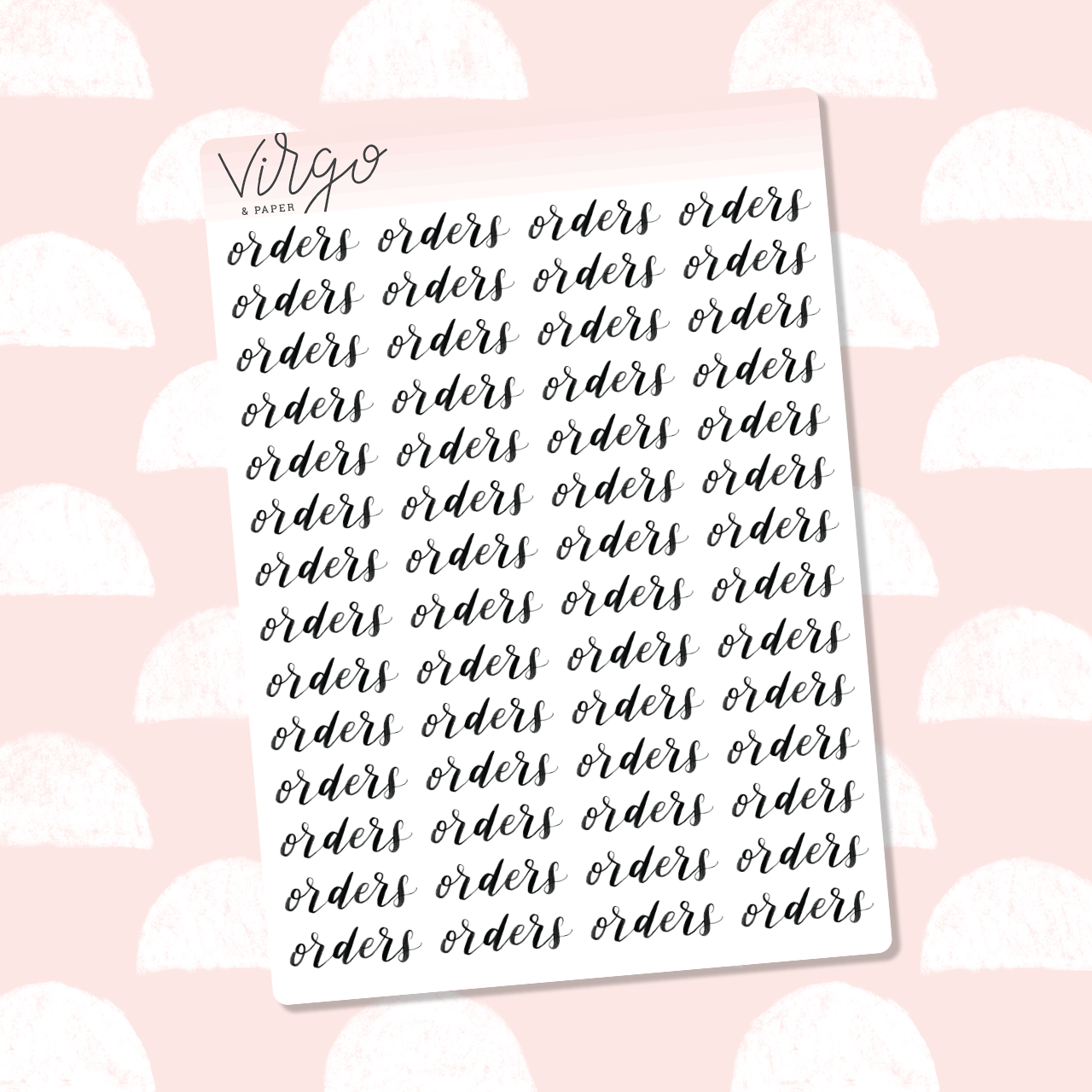 Orders Hand Lettered Label Planner Stickers
