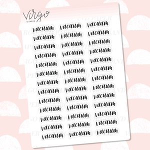 Vacuum Hand Lettered Label Planner Stickers