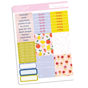 Lemonade Headers + Washi Sticker Sheet