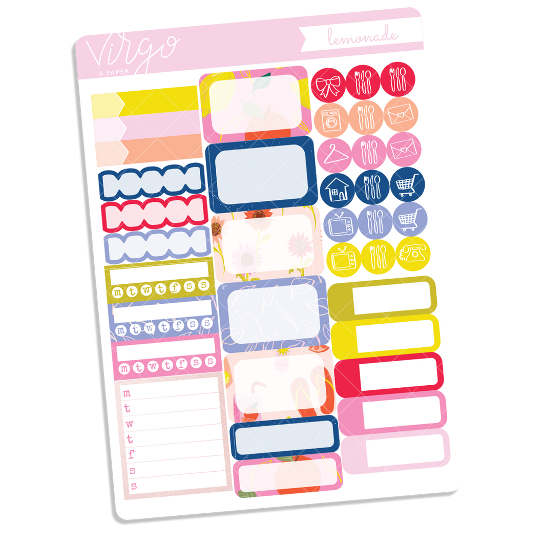 Lemonade Functional Sticker Sheet