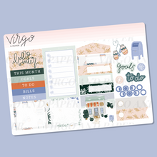 Winter Blues Monthly Planner Sticker Kit