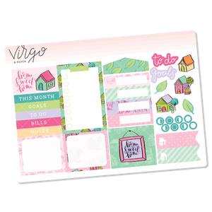 Home Sweet Home Monthly Planner Sticker Kit