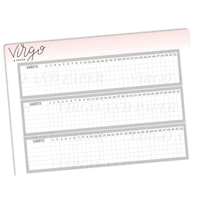 Monthly Habit Tracker Stickers - Gray
