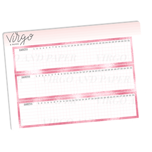 Monthly Habit Tracker Stickers - Pink Glitter