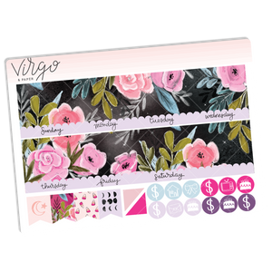 Mystic Undated Monthly Sticker Kit