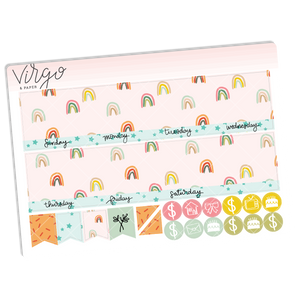 Quiet Life Undated Monthly Planner Sticker Kit
