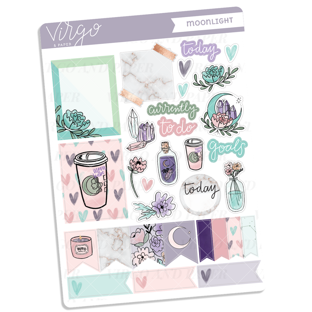 Moonlight Decorative Sticker Sheet