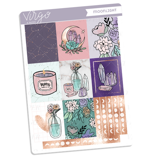 Moonlight Full Boxes Sticker Sheet