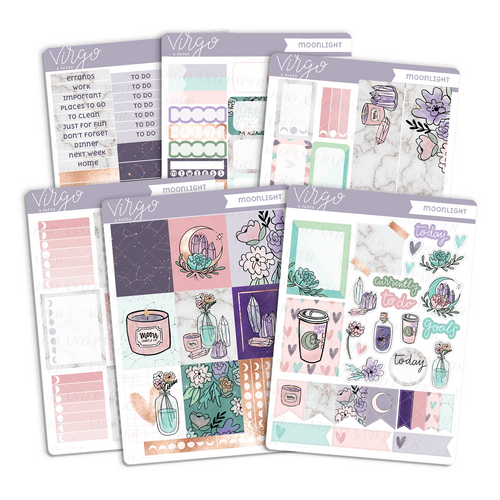 Moonlight Weekly Planner Sticker Kit