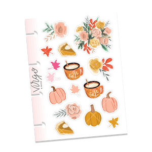 Micro Disc Pumpkin Pie Decorative Stickers
