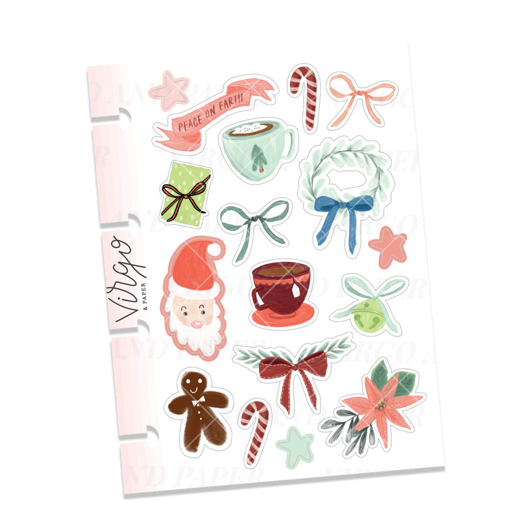 Micro Disc Christmas Decorative Stickers