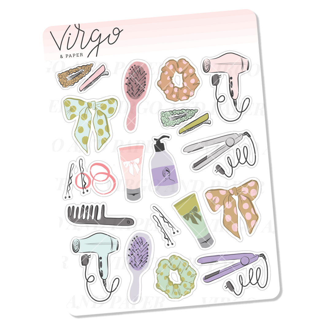 Hair Care Mini Sticker Sheet