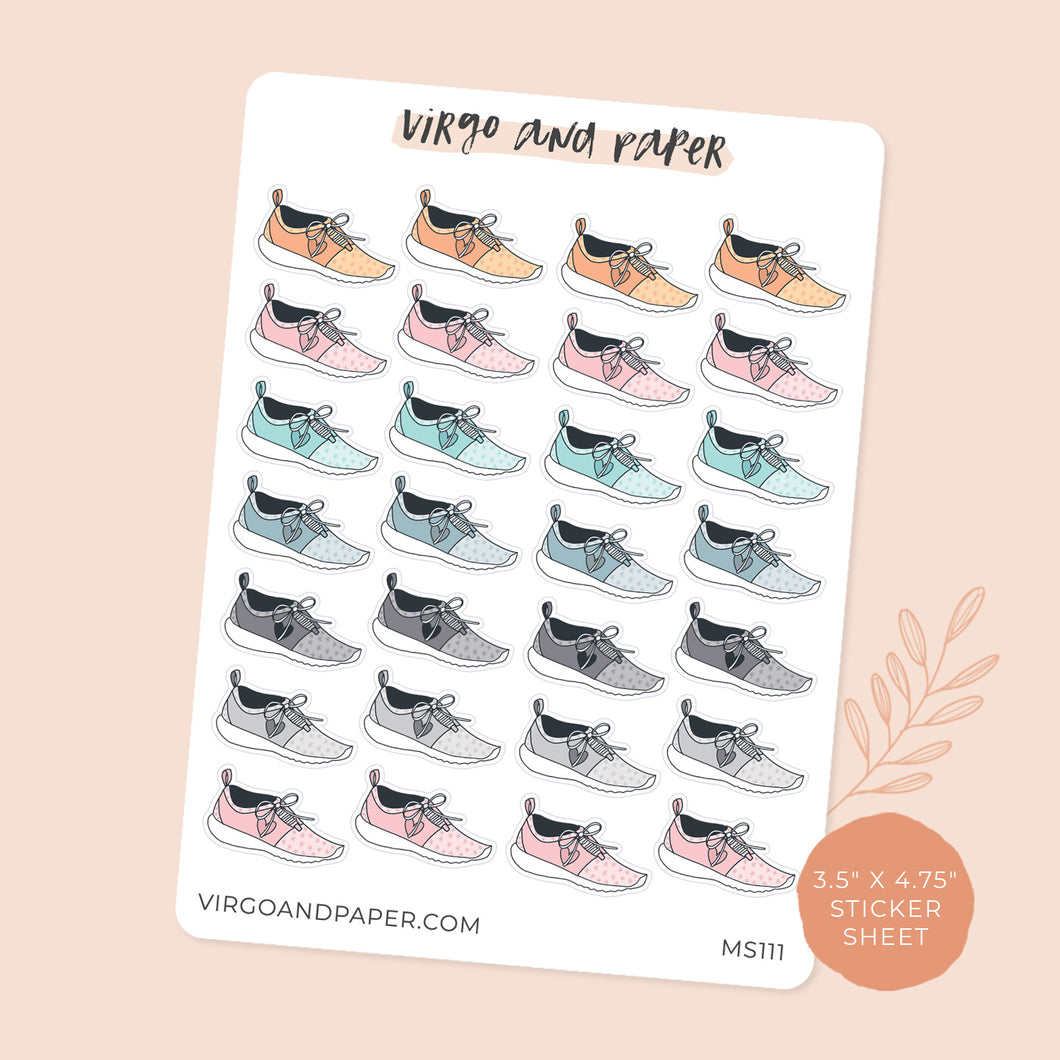 Running Shoes Mini Sticker Sheet