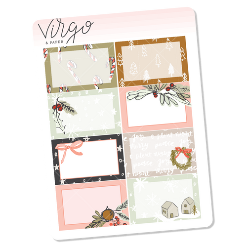 Holly Boxes Mini Sheet of Planner Stickers
