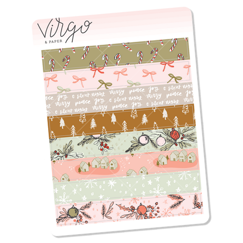 Holly Washi Stickers - Mini Sheet of Planner Stickers
