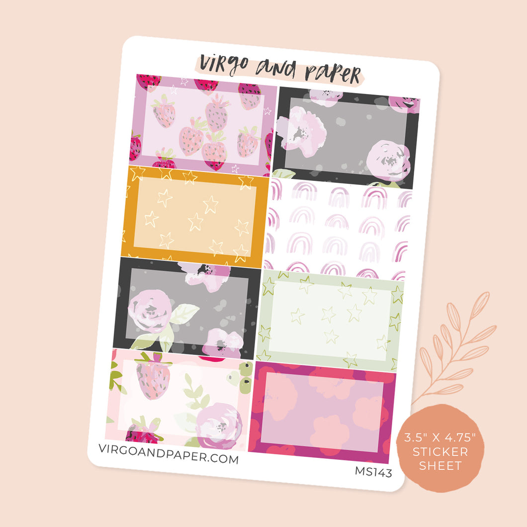 Summer Berry Boxes Mini Sheet of Planner Stickers