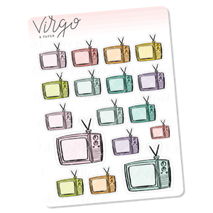 TV Doodles Mini Sheet of Planner Stickers